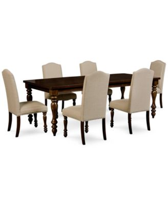Kelso 7-Pc. Dining Set (Dining Table \u0026 6 Side Chairs)  sc 1 st  Macy\u0027s & Kelso 7-Pc. Dining Set (Dining Table \u0026 6 Side Chairs) - Furniture ...