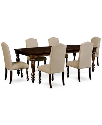 Dining Table Set kelso 7-pc. dining set (dining table & 6 side chairs) - furniture