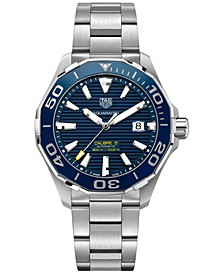 Men's Swiss Aquaracer Calibre 5 Stainless Steel Bracelet Watch 43mm