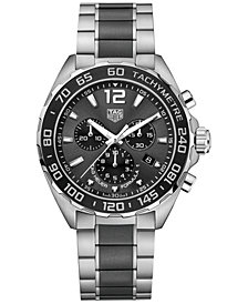 TAG Heuer Men's Swiss Chronograph Formula 1 Two-Tone Stainless Steel and Ceramic Bracelet Watch 43mm CAZ1011.BA0843