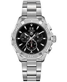 Men's Swiss Chronograph Aquaracer Stainless Steel Bracelet Watch 43mm
