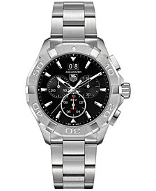 TAG Heuer Men's Swiss Chronograph Aquaracer Stainless Steel Bracelet Watch 43mm