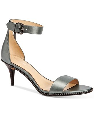 COACH Maude Two Piece Kitten Heel Dress Sandals - Sandals - Shoes ...