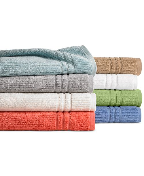Martha Stewart Collection CLOSEOUT! Quick Dry Bath Towel Collection, Created for Macy's
