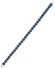 London Blue Topaz Tennis Bracelet (28 ct. t.w.) in Sterling Silver