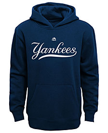 Majestic MLB Worldmark New York Yankees Fleece Hoodie, Little Boys (4-7)