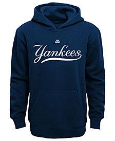 Majestic MLB Worldmark New York Yankees Fleece Hoodie, Little Boys (4-7)