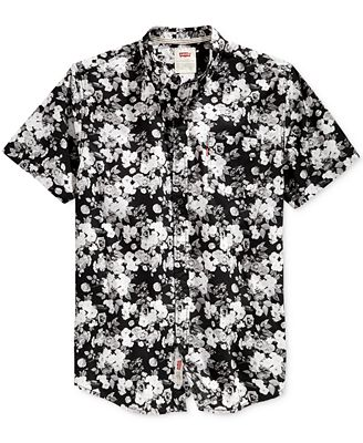 Levi's® Men's Brody Floral-Print Short-Sleeve Shirt - Casual ...