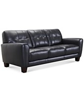 Blue Leather Sofas   Couches - Macy s 75286d7a8d