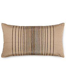 "Hotel Collection Onyx 12"" x 20"" Decorative Pillow, Created for Macy's"