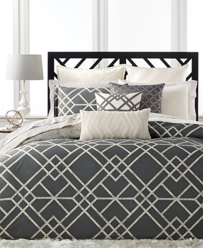 LAST ACT! Hotel Collection Modern Airbrush Geo Duvet Covers, Created for Macy's