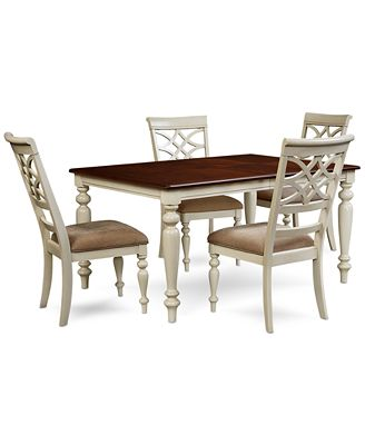 windward 5-pc. dining set (dining table & 4 side chairs) - furniture