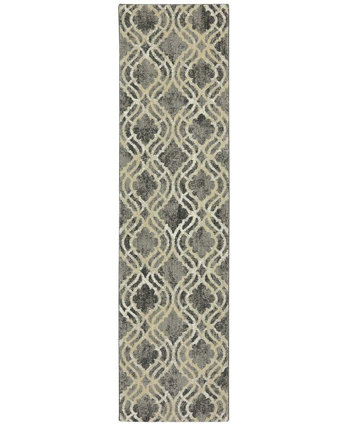 """Karastan - Euphoria Potterton Ash Grey 6'6"""" x 9'6"""" Area Rug"""
