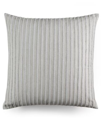 "CLOSEOUT! Modern Geo Stripe Braided 20"" Square Decorative Pillow, Created for Macy's"