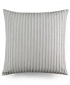 """CLOSEOUT! Modern Geo Stripe Braided 20"""" Square Decorative Pillow, Created for Macy's"""
