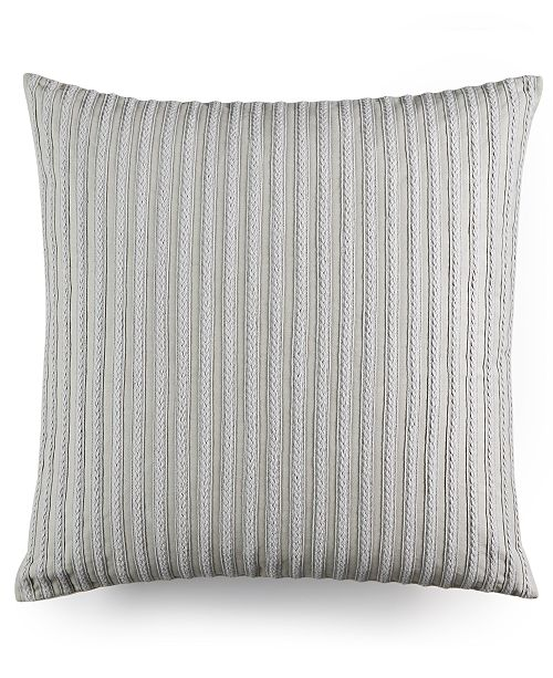 "Hotel Collection Modern Geo Stripe Braided 20"" Square Decorative Pillow, Created for Macy's"