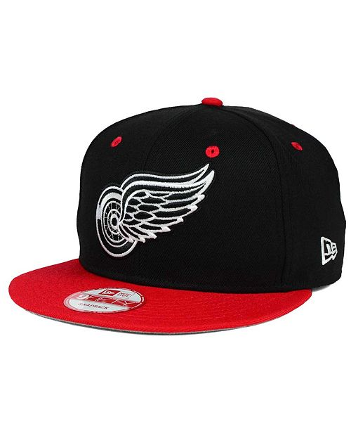 ... New Era Detroit Red Wings Black White Team Color 9FIFTY Snapback Cap ... b12894f48bfe