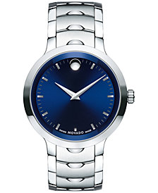 Movado Men's Swiss Luno Stainless Steel Bracelet Watch 40mm 0607042