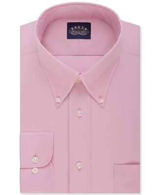 Eagle men 39 s slim fit non iron dress shirt dress shirts for Non iron slim fit dress shirts