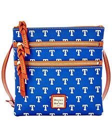 Dooney & Bourke Texas Rangers Triple Zip Crossbody Bag
