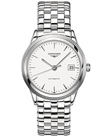 Longines Men's Swiss Automatic Flagship Stainless Steel Bracelet Watch 39mm L48744126