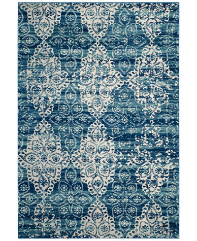 CLOSEOUT! Safavieh Evoke EVK266F Royal/Ivory Area Rugs