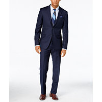 DKNY Men's Navy Solid Extra-Slim-Fit Suit