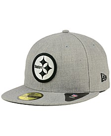 Pittsburgh Steelers Heather Black White 59FIFTY Fitted Cap