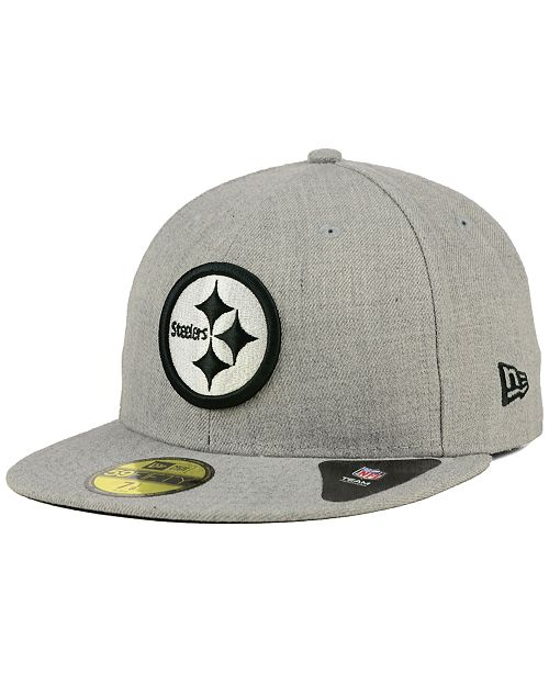 New Era Pittsburgh Steelers Heather Black White 59FIFTY Fitted Cap