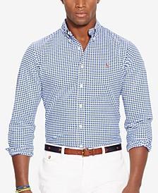 폴로 랄프로렌 Polo Ralph Lauren Mens Slim-Fit Stretch Oxford Shirt,Navy