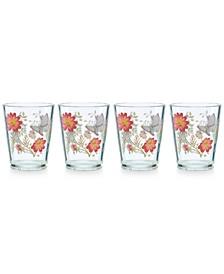 Butterfly Meadow Collection 4-Pc. Acrylic Double Old-Fashioned Drinkware Set