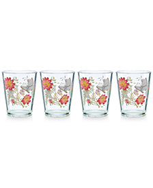 Lenox Butterfly Meadow Collection 4-Pc. Acrylic Double Old-Fashioned Drinkware Set