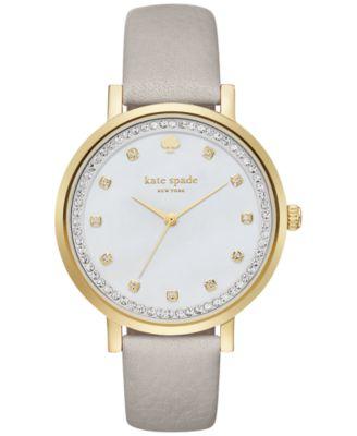 Women's Monterey Clocktower Gray Leather Strap Watch 38mm KSW1131