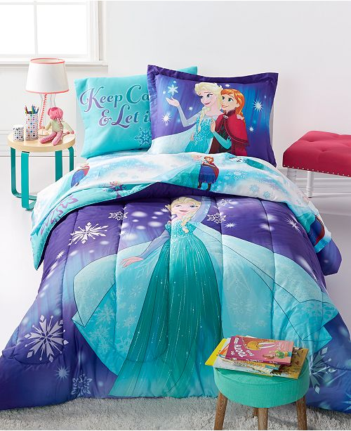 Disney Frozen Magical Winter 7 Pc Comforter Sets Bed In A Bag