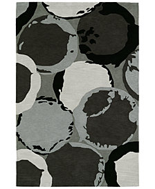 Macy's Fine Rug Gallery  Aloft AL12 Grey Area Rug