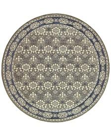 """Oriental Weavers Richmond Royal Garden Grey/Navy 7'10"""" Round Rug"""