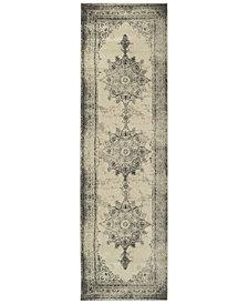 "Oriental Weavers Richmond Medallion Ivory/Grey 2'3"" x 7'6"" Runner Rug"