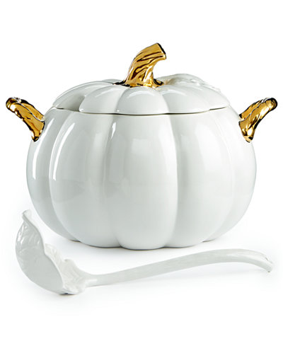 Martha Stewart Collection 2-Pc. Lidded Harvest Pumpkin Soup Tureen, Created for Macy's