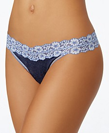 Heather Original-Rise Floral-Lace Thong 681801