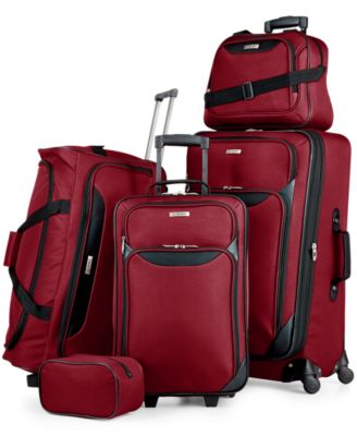 Tag Springfield III 5-Piece Luggage Set - Red / Blue