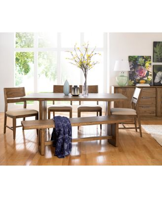 Athena Dining Trestle Table Furniture Macys - Macys dining room sets