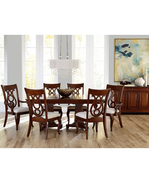 Furniture Bordeaux Double Pedestal 7 Pc Dining Set Table 4 Side Chairs 2 Arm Macy S