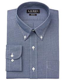 Lauren Ralph Lauren Men's Slim-Fit Non-Iron Textured Solid Dress Shirt