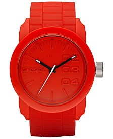 Men's Double Down Red Silicone Strap Watch 44mm DZ1440