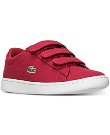 Lacoste Little Boys' Carnaby EVO Canvas Casual Sneakers from Finish Line