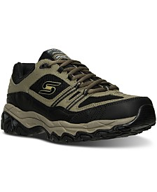 Skechers Men's After Burn - Memory Fit Strike Off Wide Width Training Sneakers from Finish Line