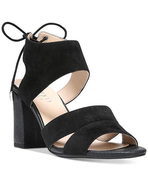 Franco Sarto Gem Lace-Up Block Heel Sandals