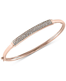 Trio by EFFY Diamond Bangle Bracelet (1 ct. t.w.) in 14k White, Yellow or Rose Gold