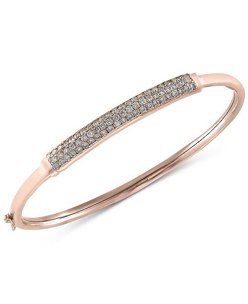 EFFY Collection Trio by EFFY® Diamond Bangle Bracelet (1 ct. t.w.) in 14k White, Yellow or Rose Gold