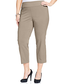 Alfani Petite Plus Size Pull-On Capri Pants, Created for Macy's
